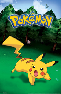 Pokemon Pikachu Catch Video Gaming Poster 22x34