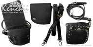 Black Faux Leather Holster