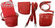 Red Faux Leather Holster