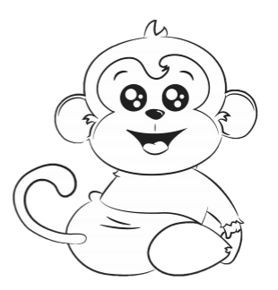 Max the ABDL Monkey Coloring Book Page - FREE