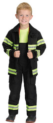 Fire Fighter Chld Black Sm 4-6