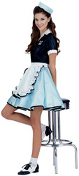 Car Hop Girl Costume Adult