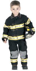 Fire Fighter Chld Blk Sm W Hat