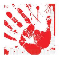 Bloody Handprints Luncheon Nap
