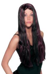 Witch Striped Wig Black Burgan