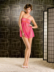 Babydoll & Thong Hot Pink