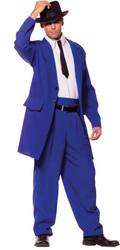 Zoot Suit Adult Blue Std