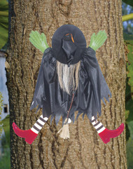 Tree Trunk Witch W/red Shoes
