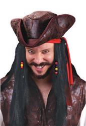 Wig 30 Inch Carribean Pirate