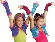 Dance Craze Arm Warmers Turq