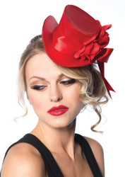 Top Hat Mini Satin Red