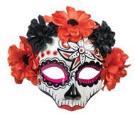 Day Of Dead Skull Female Mask