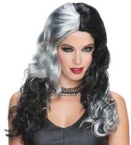 Wicked Witch Grey Black Wig