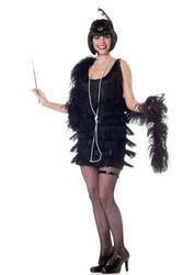 Flapper Fashion Adult Black