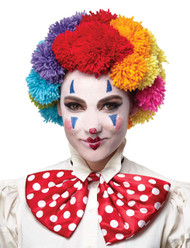 Pom Clown Wig Rainbow