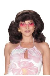 Angels 70s Dark Brown Wig