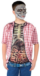 Skeleton W Guts Shirt Child Lg