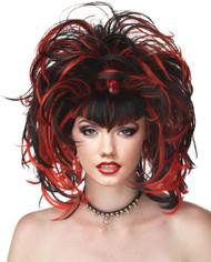 Wig Evil Sorceress Black Red