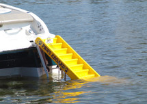 Pawz Dog Boat Ladder attaches to your boat's ladder