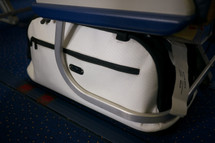 Sleepypod Air Silver Airline Approved Pet Carrier fits perfectly under the passenger seat of the aircraft