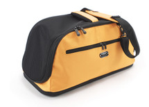 Sleepypod Air Orange Airline Approved Pet Carrier has an adjustable, padded shoulder strap and an integrated hand carry strap