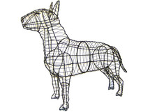 Bull Terrier Frame Topiary Dog