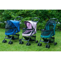 Happy Trails No Zip Pet Stroller comes in three colors
