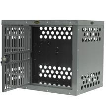 Zinger Professional Side Door Aluminum Dog Crate showing door offset to the right