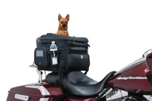 Kuryakyn Grand Pet Palace motorcycle & motor scooter pet carrier mounts to passenger seats or luggage racks