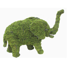 Mossed Elephant Topiary Garden Sculpture