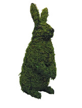 Mossed Upright Rabbit topiary front view