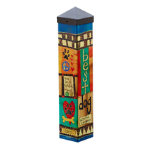 Painted Peace Dog Memorial Art Pole Urn