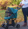 Happy Trails Lite Pine Green No Zip Pet Stroller fully closed