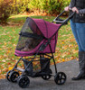 Happy Trails Lite Boysenberry No Zip Pet Stroller fully closed