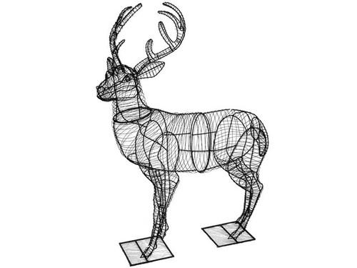 "52"" Frame Deer Garden Topiary Sculpture - The Paws Mahal"