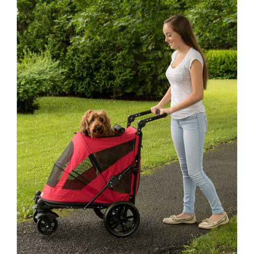 Candy Red No-Zip Excursion Pet Stroller