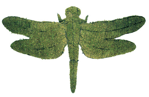 "Dragonfly Garden Topiary Sculpture has a 48"" wingspan"
