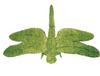 Dragonfly Garden Topiary Sculpture features lifelike forewings, hindwings, segmented abdomen, head and tarsi.