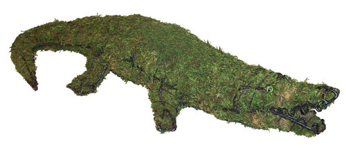 Mossed Alligator Topiary Garden Sculpture