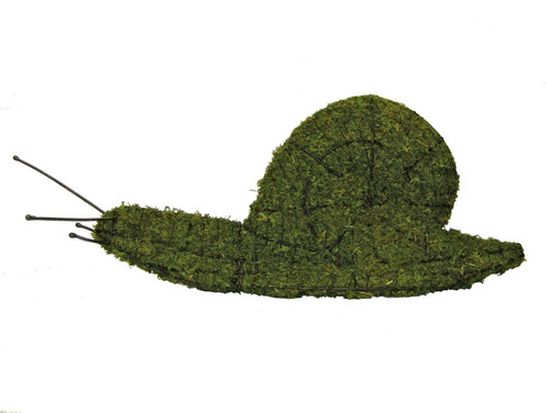 Our Snail Mossed Garden Topiary Sculpture measures an impressive 49 inches in length!