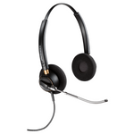 Plantronics HW520V EncorePro Over-the-Head Binaural Voice Tube Headset (89436-01)