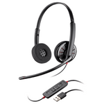 Plantronics Blackwire C320 Over-the-Head Binaural USB Headset (85619-102)