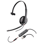 Plantronics Blackwire C315.1 Over-the-Head Monaural USB / 3.5mm Headset (204440-02)