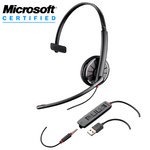 Plantronics Blackwire C315.1-M Over-the-Head Monaural USB / 3.5mm Headset (204440-01)