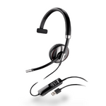 Plantronics Blackwire C710 Over-the-Head Monaural USB & Bluetooth Headset (87505-02)