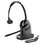 Plantronics Savi W410 Wireless Over-the-Head Monaural USB Headset, DECT 6.0 (84007-03)