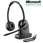 Plantronics Savi W420-M Wireless Over-the-Head Binaural USB Headset, DECT 6.0 (84008-01)