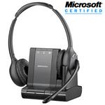 Plantronics Savi W720-M Wireless Over-the-Head Binaural USB Headset, DECT 6.0 (84004-01)