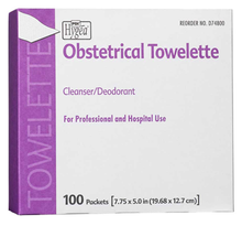 "PDI HYGEA® Obstetrical Towelettes 7-7/8""x5"", 100/bx"