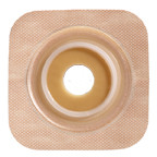 "SUR-FIT Natura Stomahesive Flexible Skin Barrier with Precut Openings with 57mm 2-1/4"") Flange with Tan tape collar (overall dimensions 5"" x 5"")"